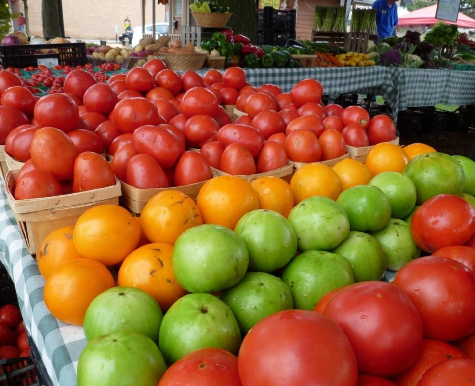 Tomatoes at Crystal Lake Farmer's Market