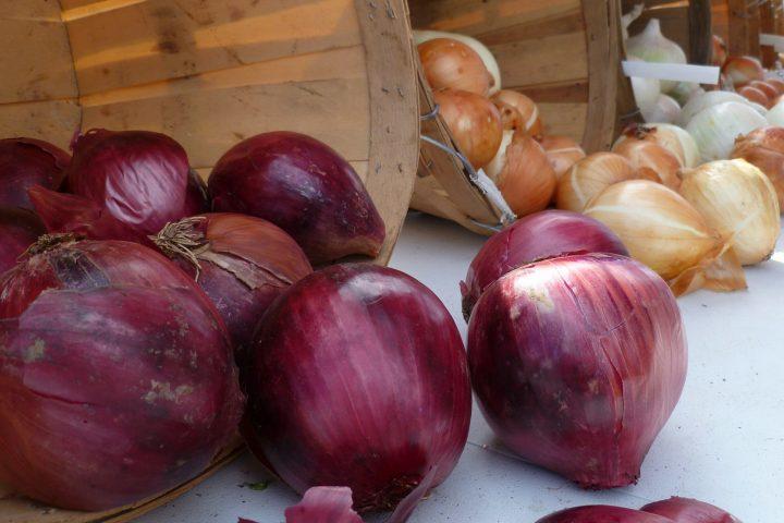 Natural Farm Stand onions at Crystal Lake Farmer's Market