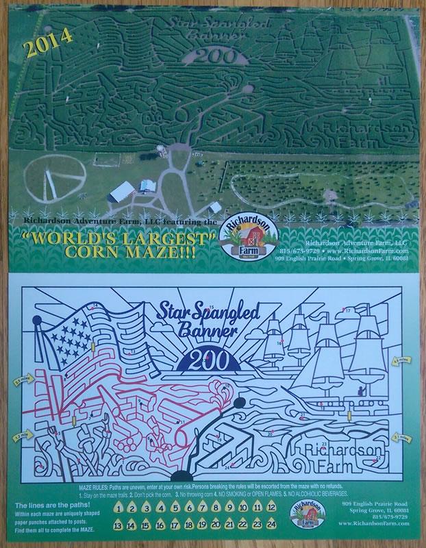 2014 Richardson Farm corn maze design and map