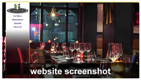 Demo of the website screenshot.