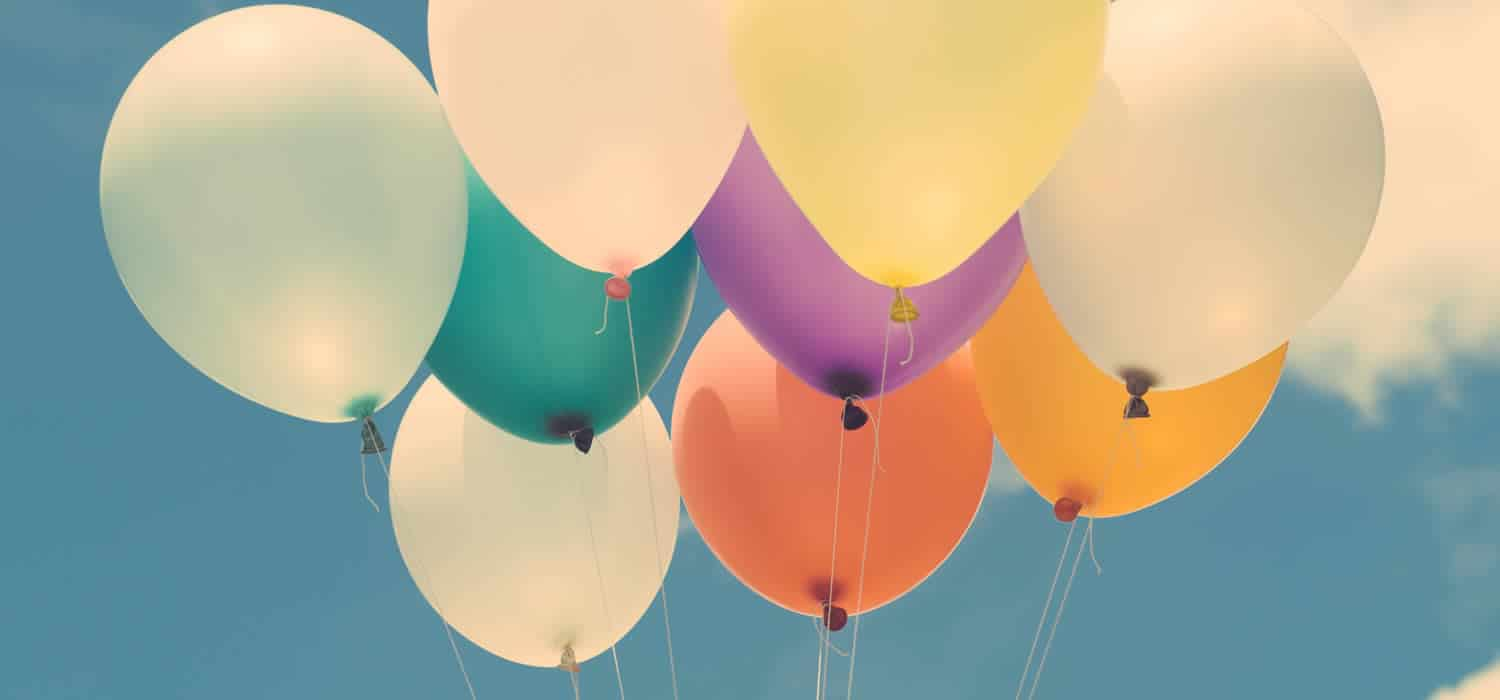 Collection of helium balloons.