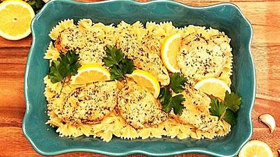 Lemon Garlic Chicken from Just Crock It.