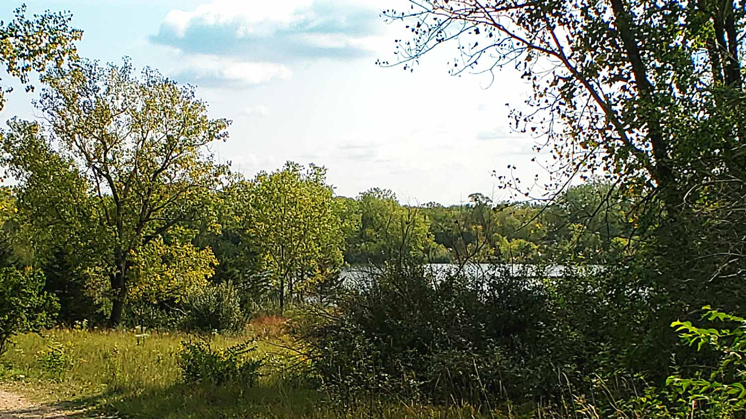 A glimpse of Lake Atwood at The Hollows.