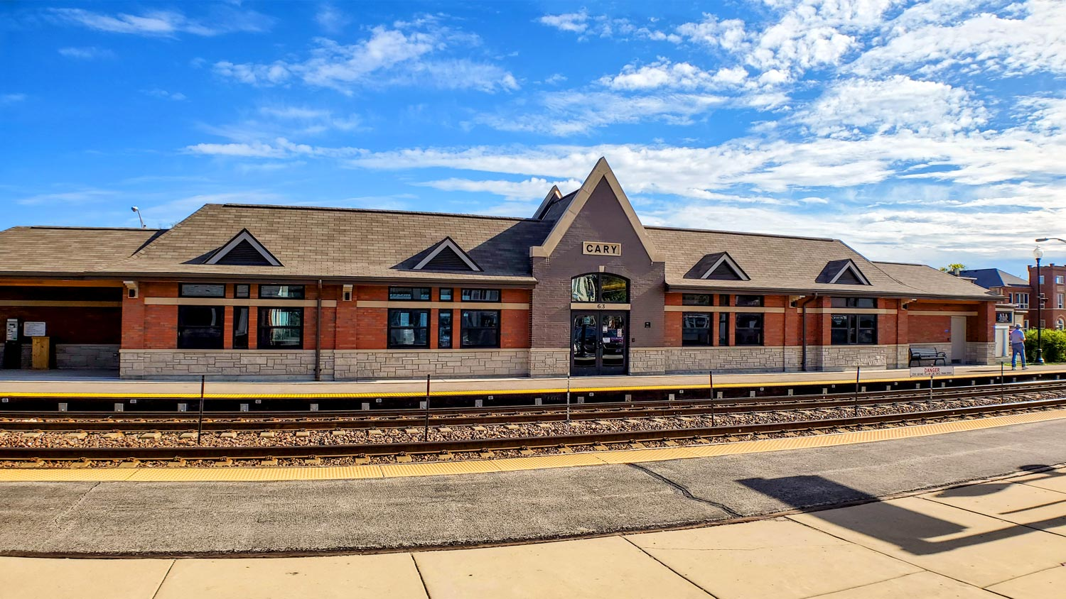 New Cary Metra Station, completed in 2019.