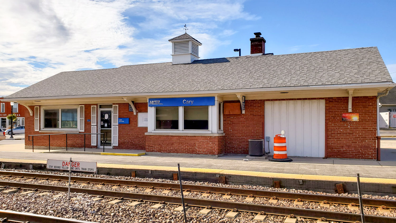Old Cary Metra Station.