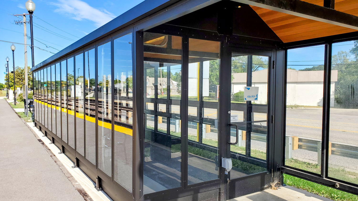New waiting shelter on the Chicago inbound side.