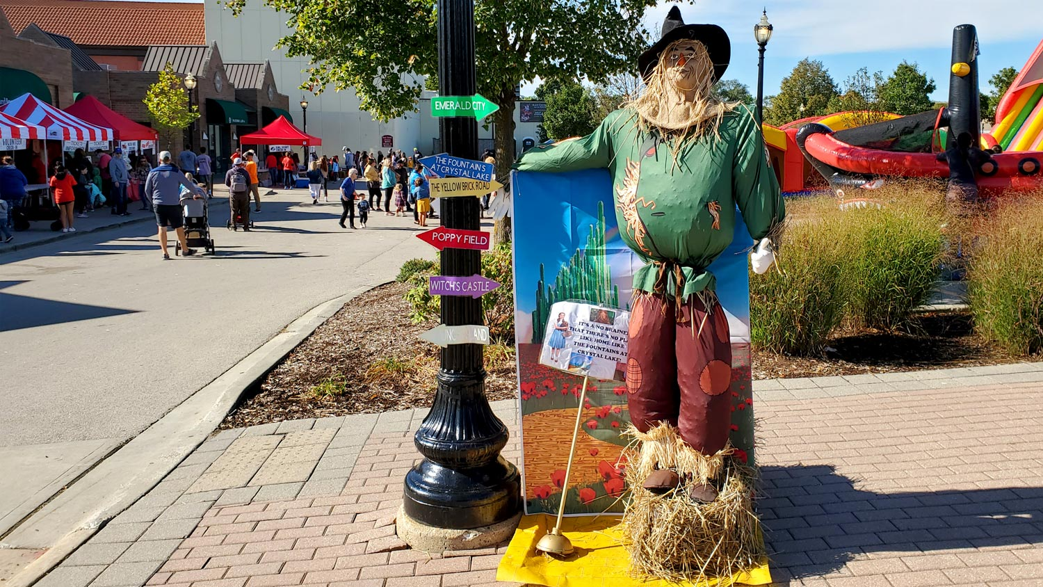 Scarecrow contest entry from The Fountains at Crystal Lake.