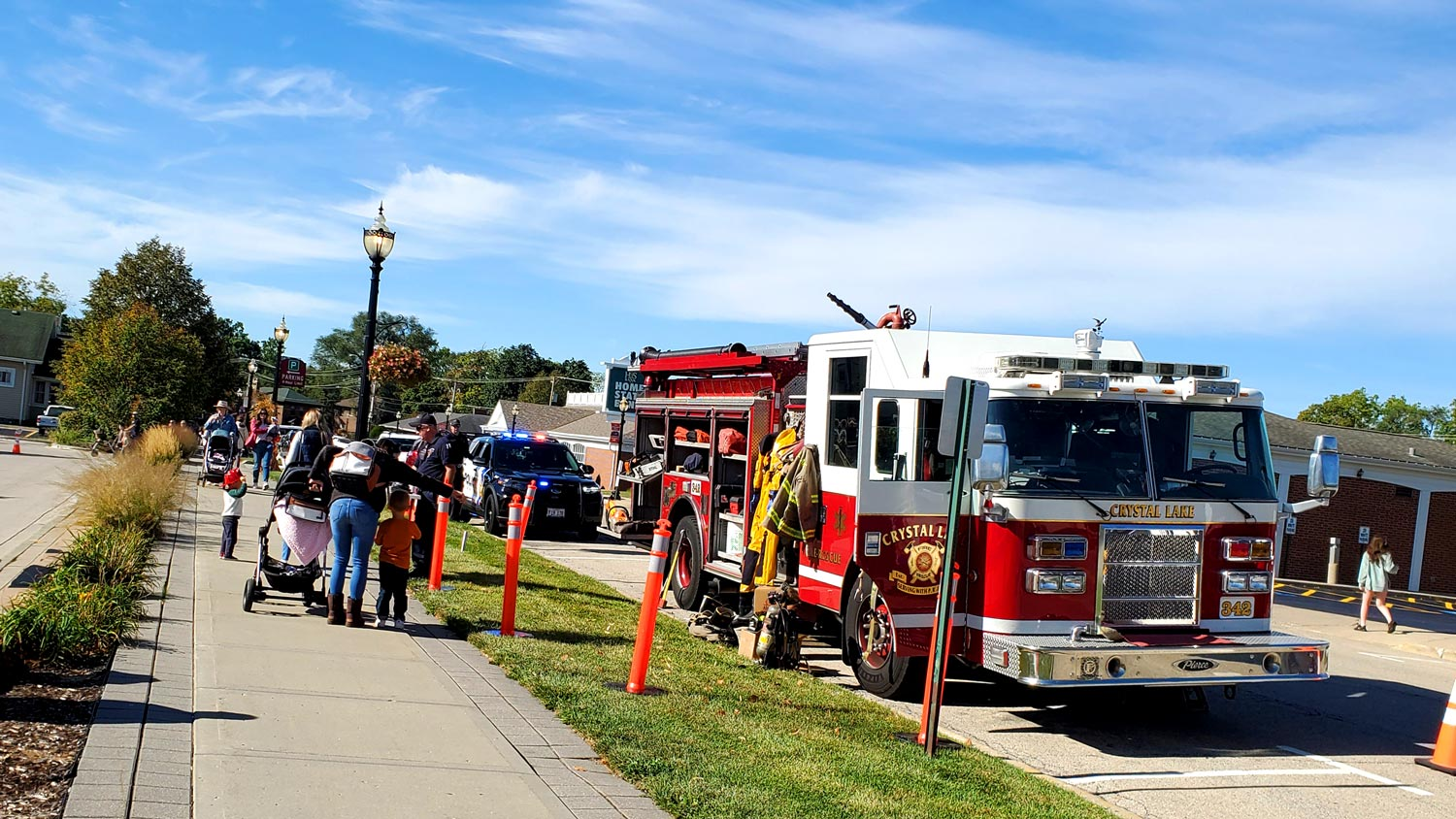Crystal Lake fire and police departments on display.