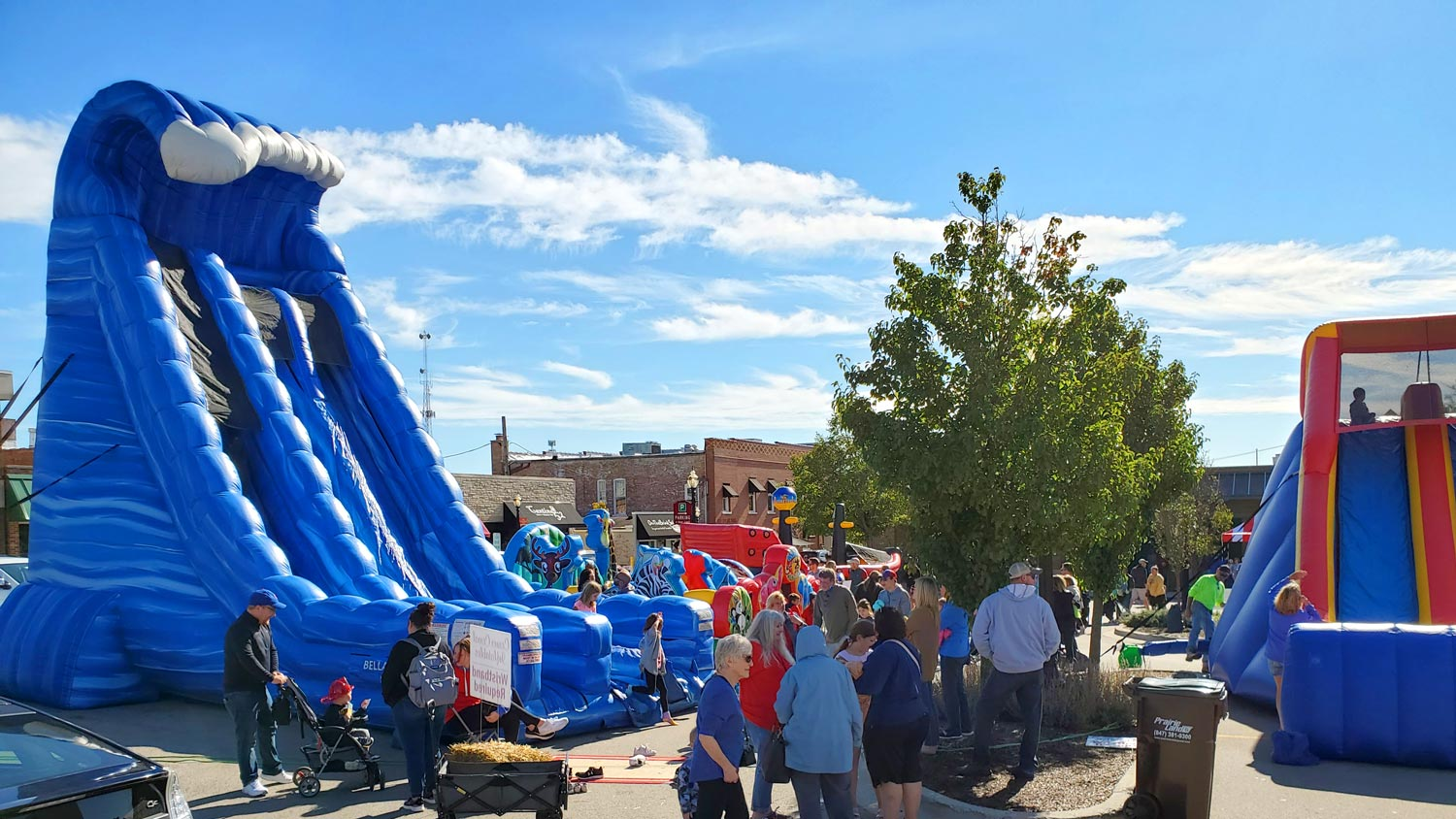 Inflatable slide and other amusements.