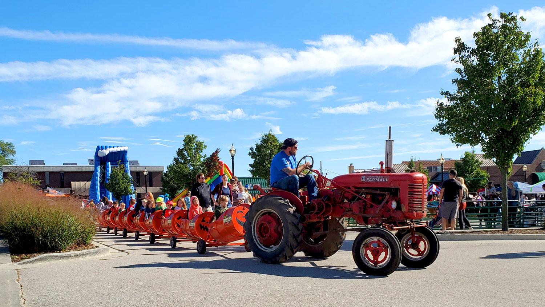 Harms Farm tractor train.