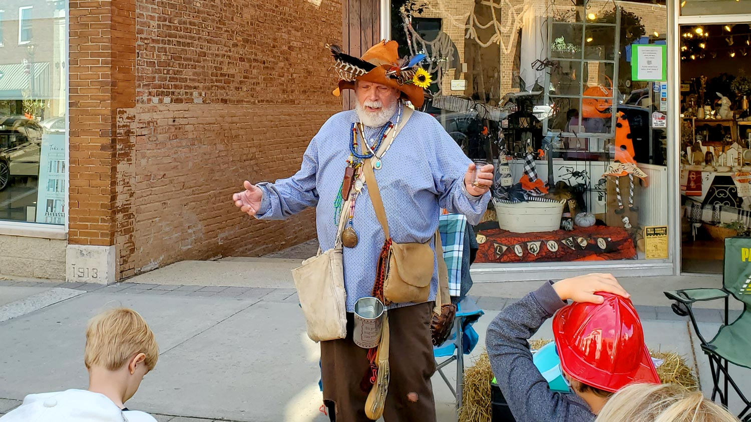 One and only Steve McPhail, portraying Johnny Appleseed.