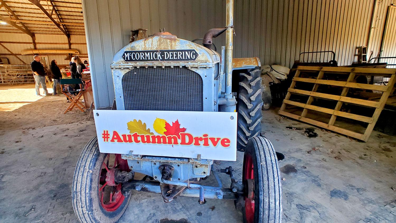 Vintage McCormick-Deering tractor at 5 Lazy K Ranch.